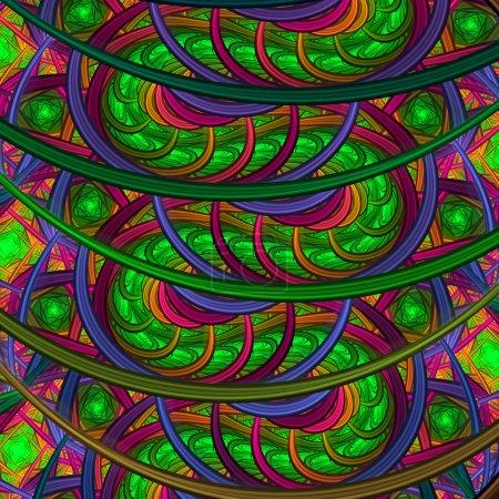 Photo pour Abstraction psychédélique de musique, conception d'art digital fractal - image libre de droit