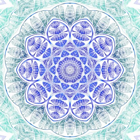 Fractal flower or mandala, digital artwork for creative graphic design