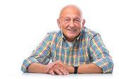 Portrét šťastný starší muže s úsměvem
