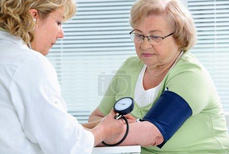 Measuring of blood pressure