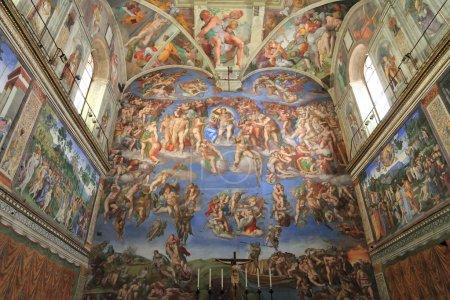 Michelangelo fresco in the The Sistine Chapel, Vatican