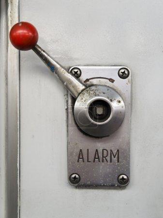 Alarm lever or emergency brake on a train...