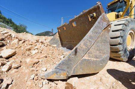 excavator at work on site