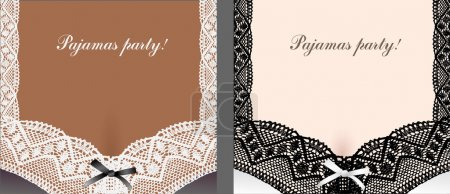 Bra with lace abstract background set.