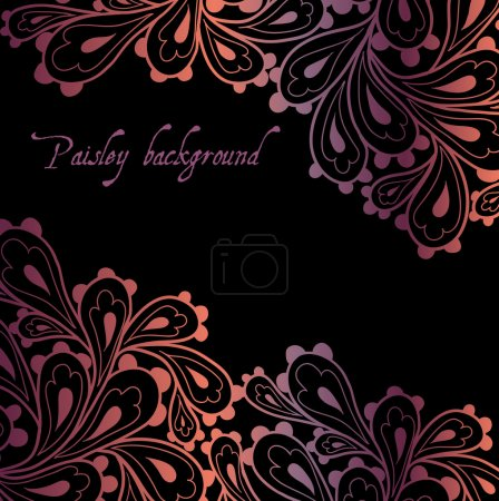 Illustration for Doodle paisley background. - Royalty Free Image