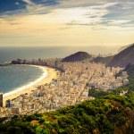 Buildings at the waterfront, Copacabana Beach, Rio...