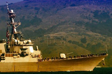 Demonstration of USS Milius (DDG 69) on Fleet Week...