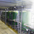 Sketch mixed with photo water treatment tanks at p...