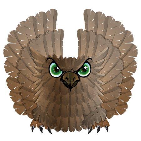Nocturnal birds of prey. Owl.