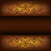 Grunge background with decorative pattern