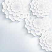 """Постер, картина, фотообои """"модные цветочные абстрактный фон с 3d цветы"""""""