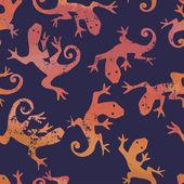 Orange salamanders seamless pattern