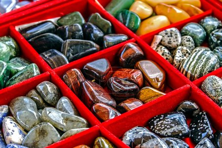 Mineral crystals and stones, with energy effect, i...