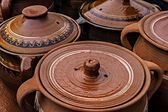 Large ceramic pots, traditional Romanian