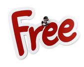 Free sticker or label