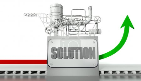 Solution concept with graph and machine