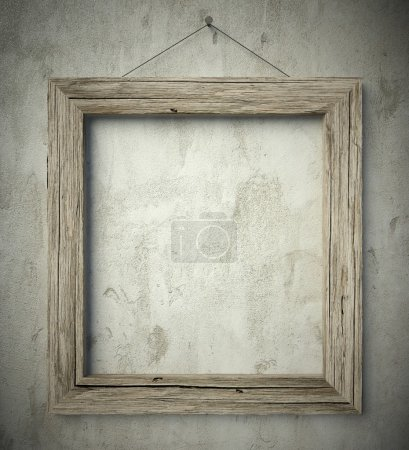 Photo for 3d Simple old circle wooden frame, vintage background - Royalty Free Image