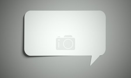 Photo pour Bulle découpée papier, arrière-plan - image libre de droit