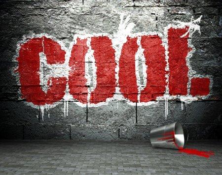 Photo pour Mur de graffitis avec fond cool, street art - image libre de droit