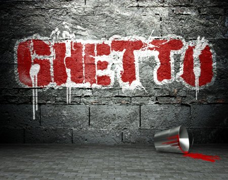 graffiti ściany z getta, tło ulica