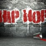 Graffiti wall with hip hop, street art background...