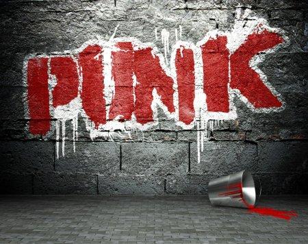 graffiti ściany z punka, ulica tło