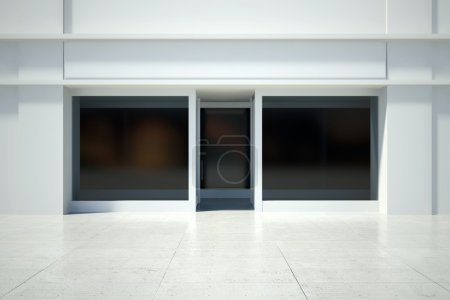 Shopfront window in modern building