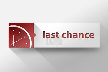 Photo pour 3d Illustration de design plat dernière chance - image libre de droit