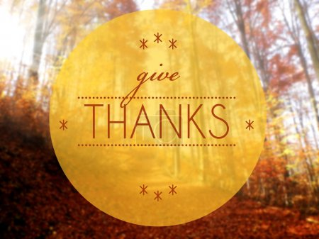 Give thanks Autumn conceptual creative illustration