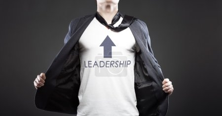 Leadership young successful businessman