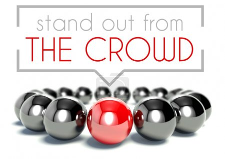 Photo for Stand out from the crowd business unique concept - Royalty Free Image