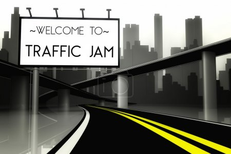 Welcome to traffic jam in conceptual big city