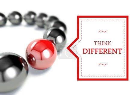 Think different business unique conceptual