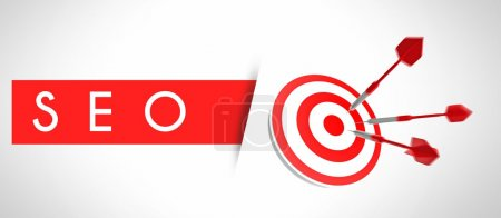 SEO concept, business target and success