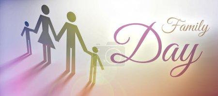 Photo pour Concept de la journée en famille, illustration créative - image libre de droit