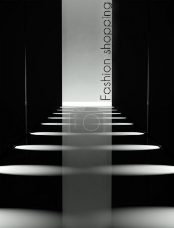 Dark design fashion show runway background
