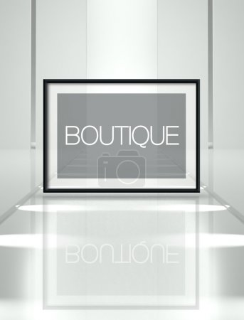 Fashion Boutique on empty runway