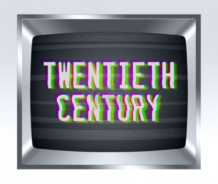 Twentieth century old tv screen with noise