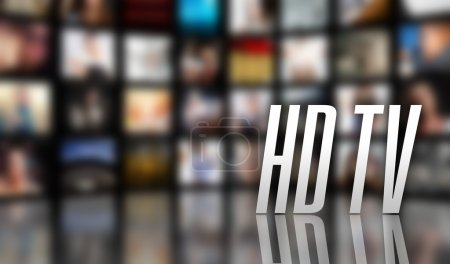 HD TV concept LCD screen panels