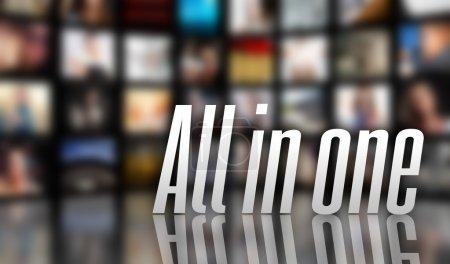 Photo pour Tout dans le concept d'un seul appareil, lcd panneaux tv - image libre de droit