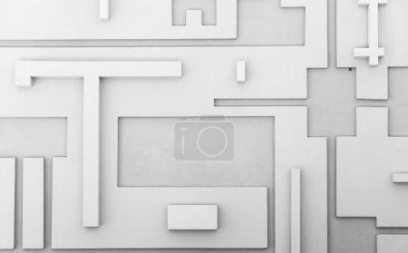 Abstract geometric pattern, sci fi wallpaper