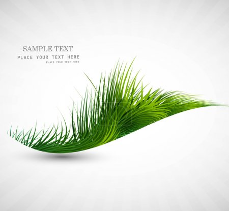 Illustration for Abstract green grass wave vector illustration - Royalty Free Image