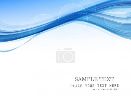 Illustration for Abstract blue business technology colorful wave whit vector - Royalty Free Image