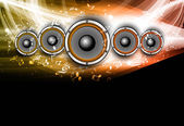 Abstract Speakers black bright background wave vector