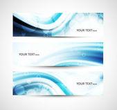 Abstraktní lesklý hlavičky modré vlny drobet vektor