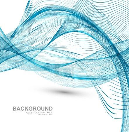 technologie fond de Microsoft fil bleu vague vecteur élégant