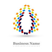 Business icon multicolor colorful stylish circle element design