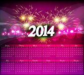 Nový rok 2014 kalendář oslav barevné vektorové