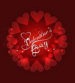 Krásné srdce Valentýna karty stylové textové pozadí ve