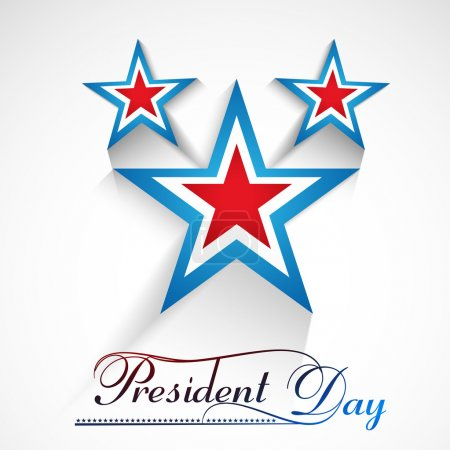 Presidents day American Independence Day stars in American Flag